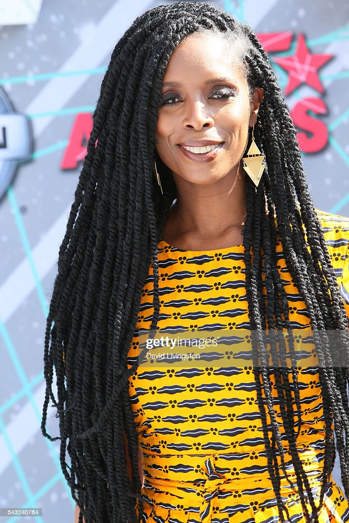 Actress <a gi-track='captionPersonalityLinkClicked' href=/galleries/search?phrase=Tasha+Smith&family=editorial&specificpeople=712139 ng-click='$event.stopPropagation()'>Tasha Smith</a> attends the 2016 BET Awards at Microsoft Theater on June 26, 2016 in Los Angeles, California.