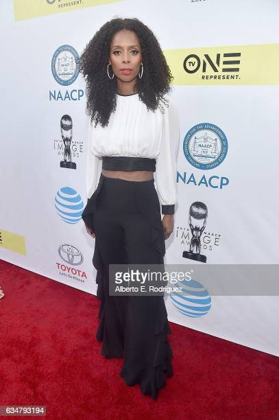 Actress Tasha Smith attends the 48th NAACP Image Awards at Pasadena Civic Auditorium on February 11 2017 in Pasadena California