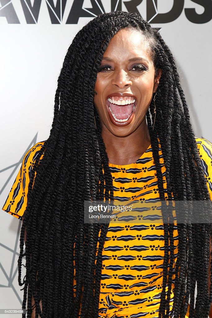Actress <a gi-track='captionPersonalityLinkClicked' href=/galleries/search?phrase=Tasha+Smith&family=editorial&specificpeople=712139 ng-click='$event.stopPropagation()'>Tasha Smith</a> attends the Make A Wish VIP Experience at the 2016 BET Awards on June 26, 2016 in Los Angeles, California.