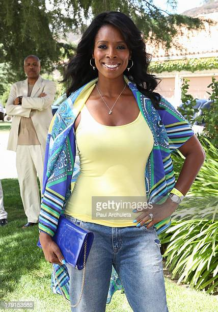 Actress Tasha Smith attends the Reed For Hope Foundation's 11th annual 'Sunshine Beyond Summer' celebration on August 31 2013 in Westlake Village...