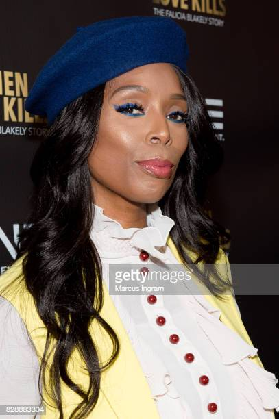 Actress Tasha Smith attends the 'When Love Kills The Falicia Blakely Story' movie screening at Regal Atlantic Station on August 9 2017 in Atlanta...