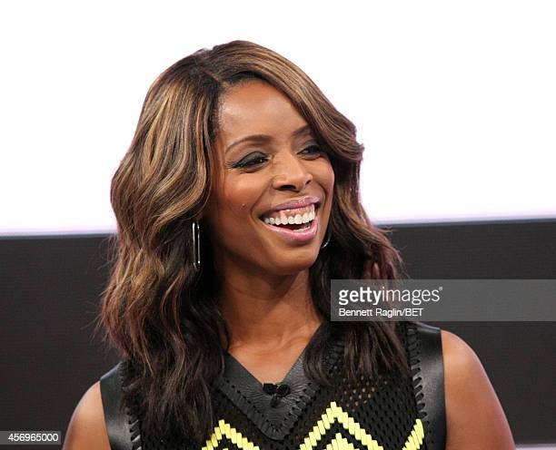 Actress Tasha Smith visits 106 Park at BET studio on October 8 2014 in New York City