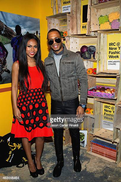 Actress Tashiana Washington and Eric West attend IRC Fashion Week PopUp and Photo Exhibition at Empire Hotel on February 14 2015 in New York City