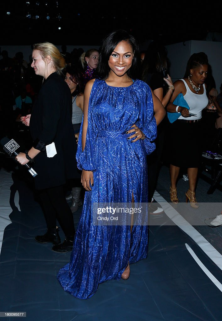 Actress Tashiana Washington attends the Emerson By Jackie Fraser-Swan fashion show during Mercedes-Benz Fashion Week Spring 2014 at The Studio at Lincoln Center on September 8, 2013 in New York City.