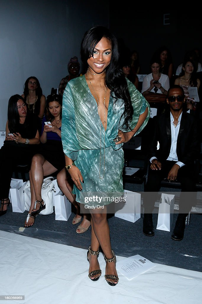 Actress Tashiana Washington attends the Fashion Shenzhen fashion show during Mercedes-Benz Fashion Week Spring 2014 at The Studio at Lincoln Center on September 10, 2013 in New York City.