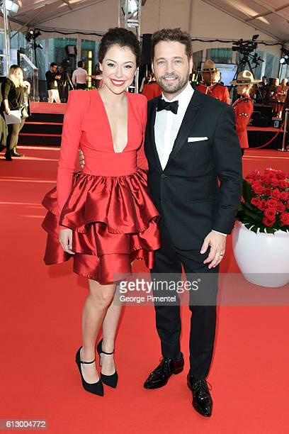 Actress Tatiana Maslany and Actor Jason Priestley attend the 2016 Canada's Walk Of Fame Awards at Allstream Centre on October 6 2016 in Toronto Canada