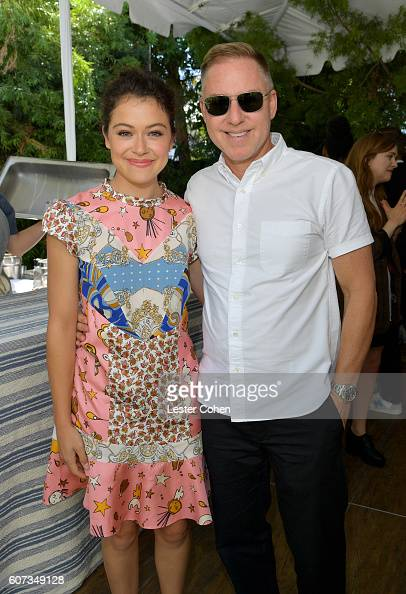 Actress Tatiana Maslany and ICM Partners' Steve Alexander at the ICM Partners PreEmmy Brunch on September 17 2016 in Santa Monica California