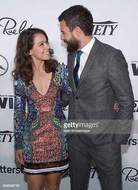 Actress Tatiana Maslany and Tom Cullen attend Variety and Women in Film's PreEmmy Celebration at Gracias Madre on September 16 2016 in West Hollywood...
