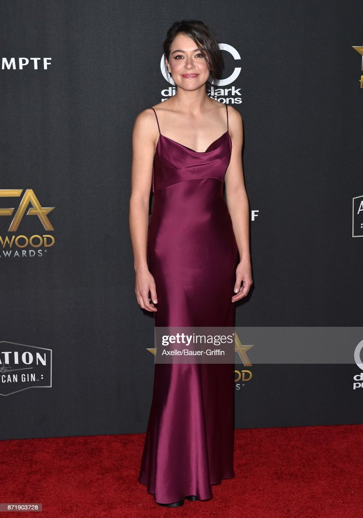 Actress Tatiana Maslany arrives at the 21st Annual Hollywood Film Awards at The Beverly Hilton Hotel on November 5, 2017 in Beverly Hills, California.
