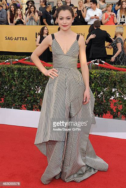 Actress Tatiana Maslany arrives at the 21st Annual Screen Actors Guild Awards at The Shrine Auditorium on January 25 2015 in Los Angeles California