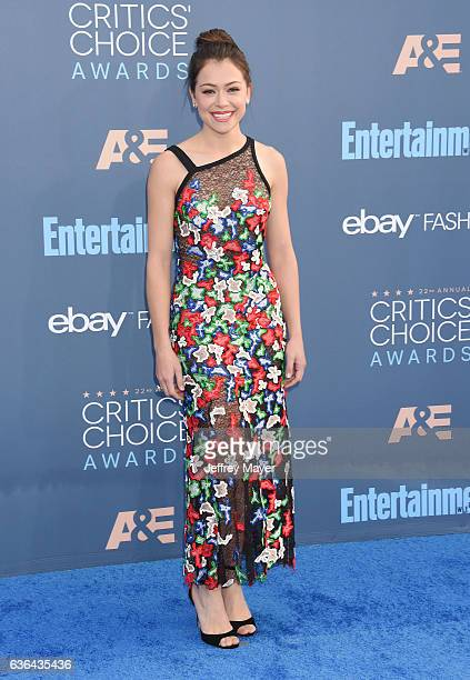 Actress Tatiana Maslany arrives at The 22nd Annual Critics' Choice Awards at Barker Hangar on December 11 2016 in Santa Monica California