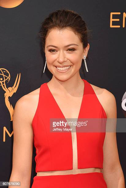 Actress Tatiana Maslany arrives at the 68th Annual Primetime Emmy Awards at Microsoft Theater on September 18 2016 in Los Angeles California