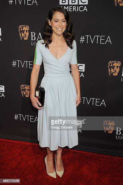 Actress Tatiana Maslany arrives at the BAFTA Los Angeles TV Tea 2015 at SLS Hotel on September 19 2015 in Beverly Hills California
