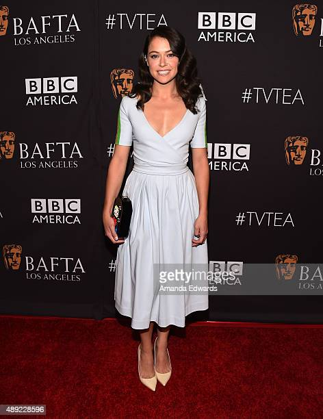 Actress Tatiana Maslany arrives at the BAFTA Los Angeles TV Tea 2015 at the SLS Hotel on September 19 2015 in Beverly Hills California