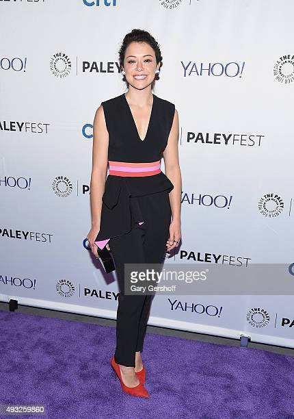 Actress Tatiana Maslany attends a screening of 'Orphan Black' during PaleyFest New York 2015 at The Paley Center for Media on October 18 2015 in New...