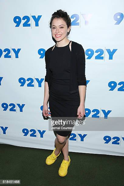 Actress Tatiana Maslany attends An Evening With The Cast CoCreator Of 'Orphan Black' at 92nd Street Y on March 31 2016 in New York City