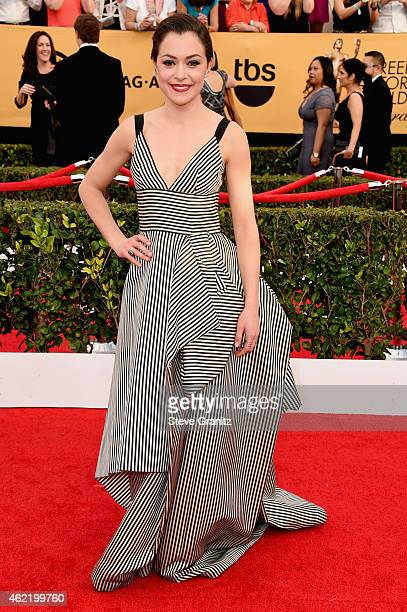 Actress Tatiana Maslany attends the 21st Annual Screen Actors Guild Awards at The Shrine Auditorium on January 25 2015 in Los Angeles California