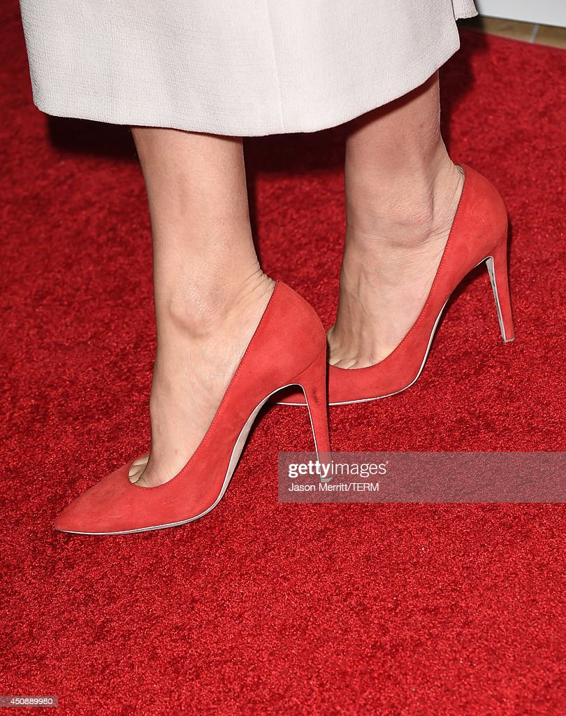 Actress Tatiana Maslany (shoe detail) attends the 4th Annual Critics' Choice Television Awards at The Beverly Hilton Hotel on June 19, 2014 in Beverly Hills, California.