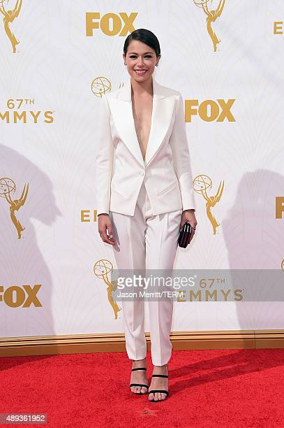 Actress Tatiana Maslany attends the 67th Annual Primetime Emmy Awards at Microsoft Theater on September 20 2015 in Los Angeles California