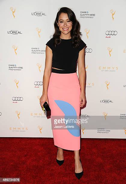 Actress Tatiana Maslany attends the Television Academy's celebration for the 67th Emmy Award nominees for outstanding performances at Pacific Design...