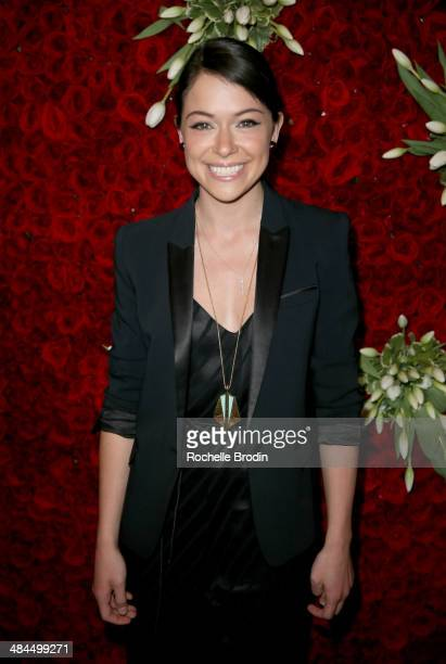 Actress Tatiana Maslany attends the VIP Red Carpet Suite hosted by Ketel One Vodka at the 25th Annual GLAAD Media Awards on April 12 2014 in Beverly...