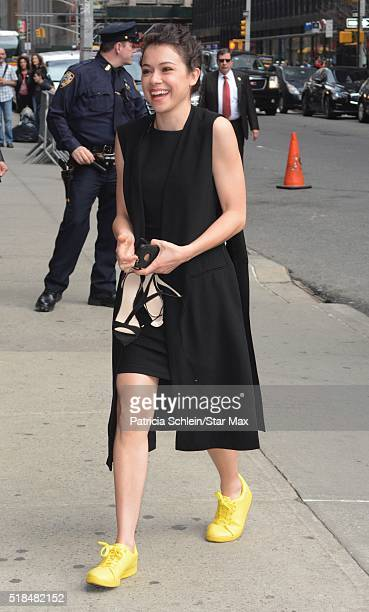 Actress Tatiana Maslany is seen on March 31 2016 in New York City