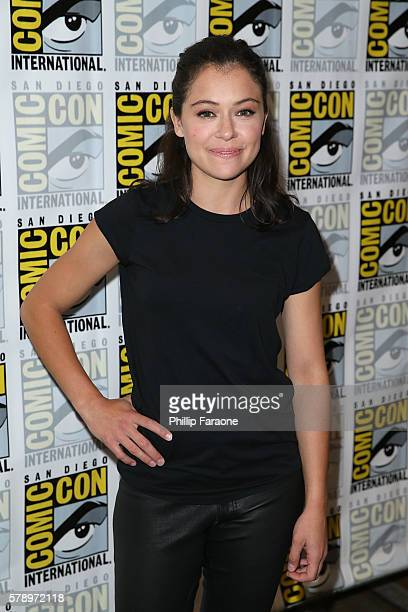 Actress Tatiana Maslany of 'Orphan Black' attends ComicCon International 2016 on July 22 2016 in San Diego California