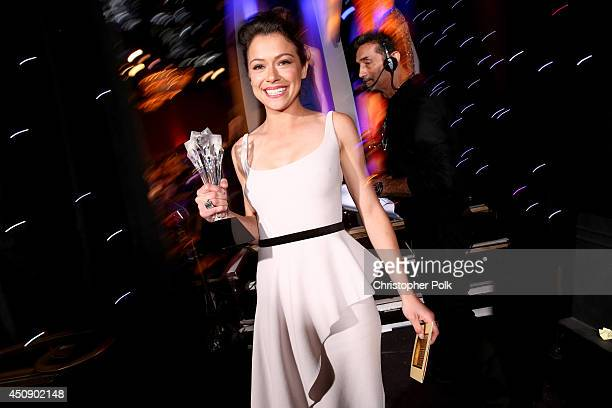 Actress Tatiana Maslany winner of the award for Best Actress in a Drama Series for 'Orphan Black' attends the 4th Annual Critics' Choice Television...