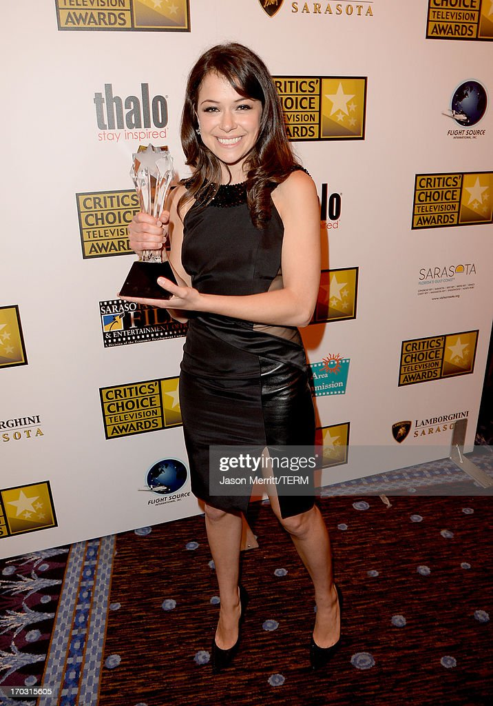 Actress Tatiana Maslany wins the award Best Actress in a Drama Series for 'Orphan Black' at the Broadcast Television Journalists Association's third annual Critics' Choice Television Awards at The Beverly Hilton Hotel on June 10, 2013 in Los Angeles, California.