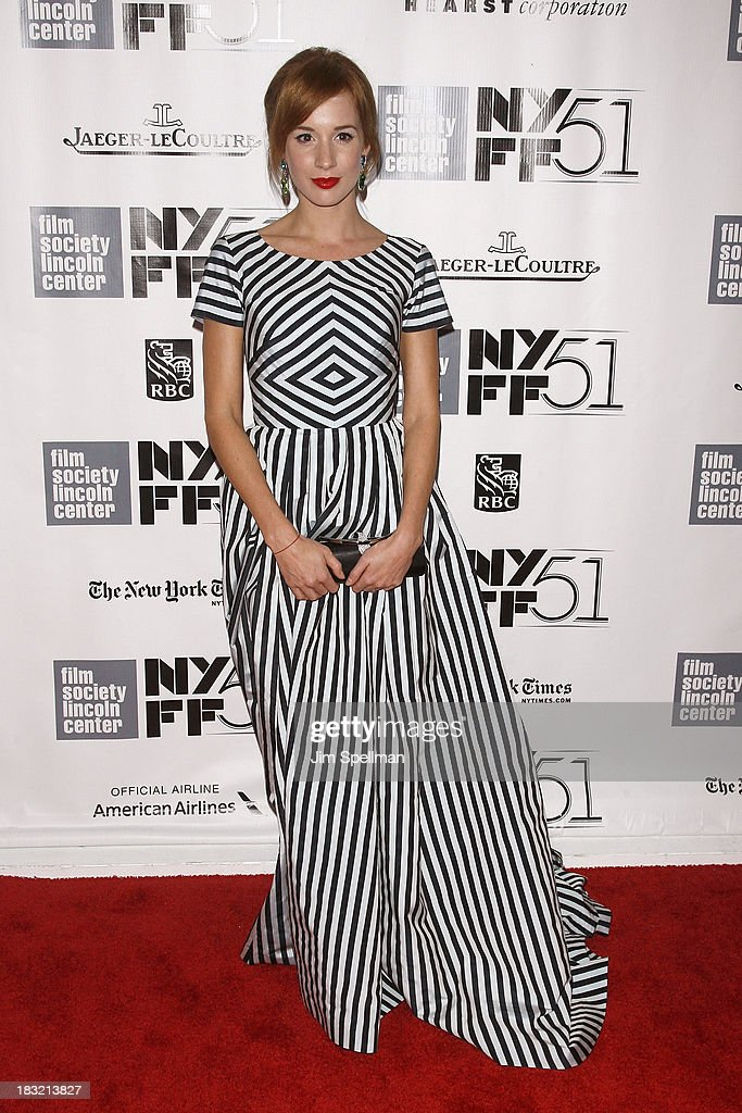 Actress Tatiana Pauhofova attends the Centerpiece Gala Presentation Of 'The Secret Life Of Walter Mitty' during the 51st New York Film Festival at Alice Tully Hall at Lincoln Center on October 5, 2013 in New York City.