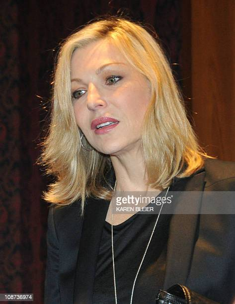 Actress Tatum O'Neal arrives for a ceremony in which items belonging to the late actress Farah Fawcett were enshrined in the Smithsonian...