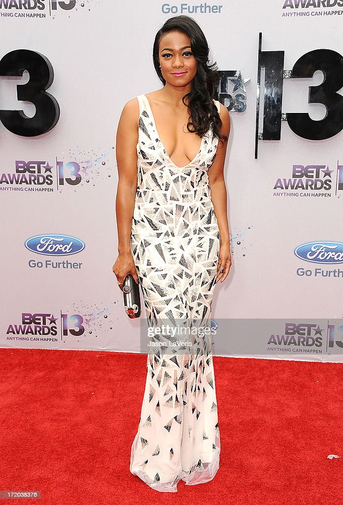 Actress Tatyana Ali attends the 2013 BET Awards at Nokia Theatre L.A. Live on June 30, 2013 in Los Angeles, California.