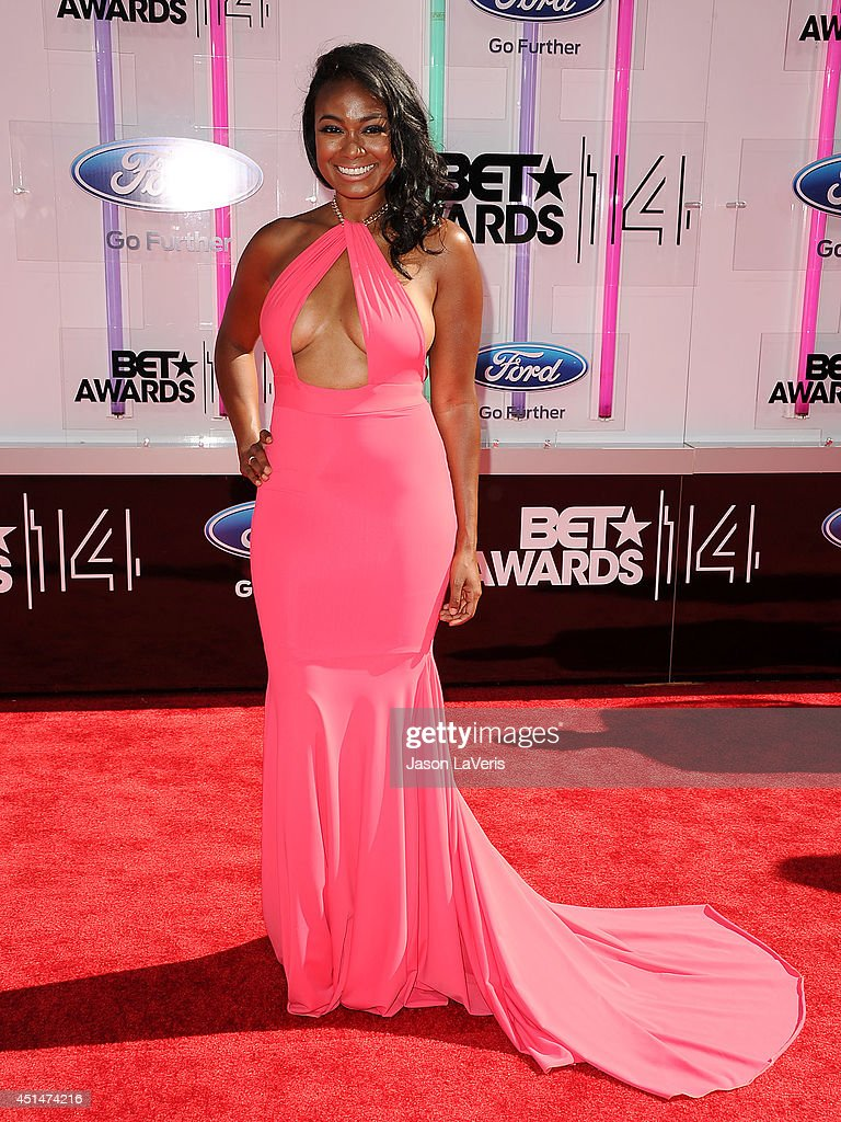 actress tatyana ali attends the 2014 bet awards at nokia plaza l a