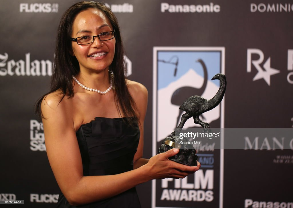 Actress Tausili Pushparaj of Orator poses with her award for Best Actress during the MOA 'Unofficial' New Zealand Film Awards at The Civic on December 4, 2012 in Auckland, New Zealand.