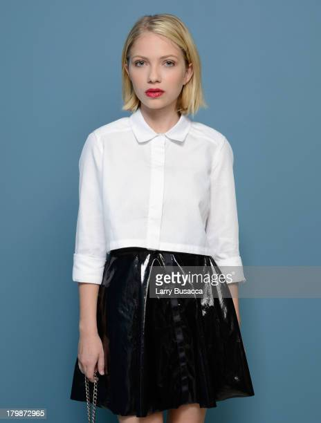 Actress Tavi Gevinson of 'Enough Said' poses at the Guess Portrait Studio during 2013 Toronto International Film Festival on September 7 2013 in...