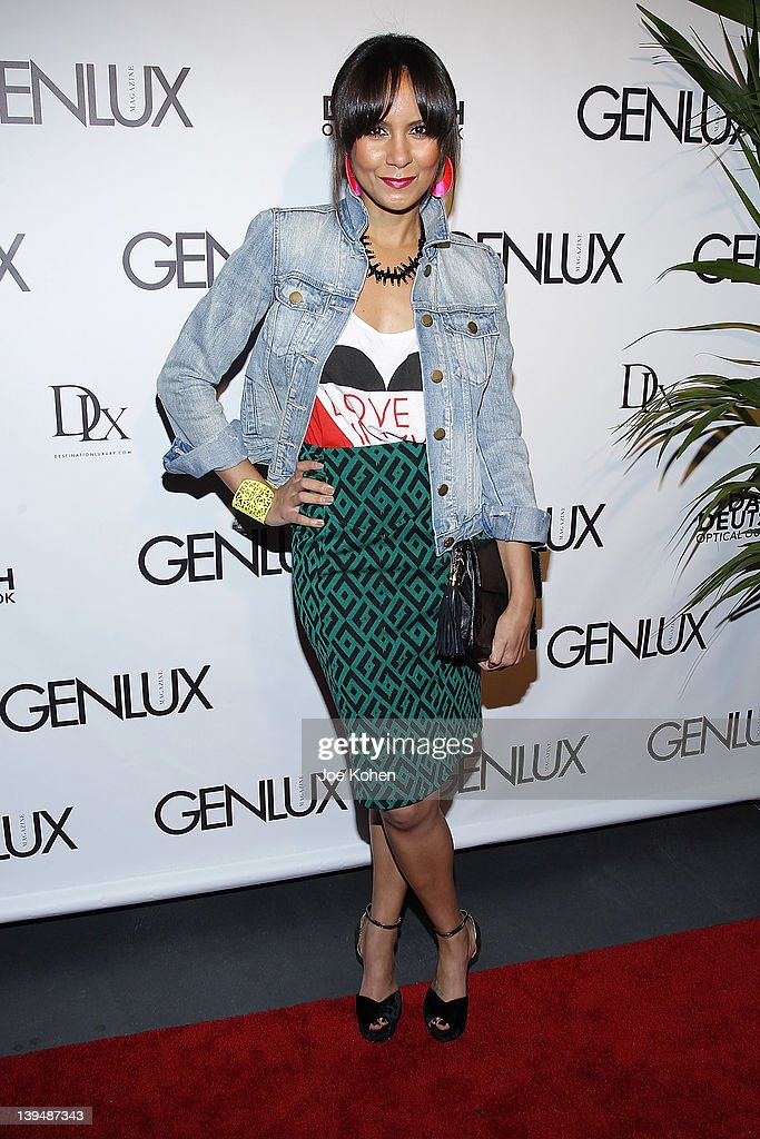 Actress Taye Hansberry attends the Night Of 'BB Forever: Brigitte Bardot, The Legend' at Sofitel Hotel on February 21, 2012 in Los Angeles, California.