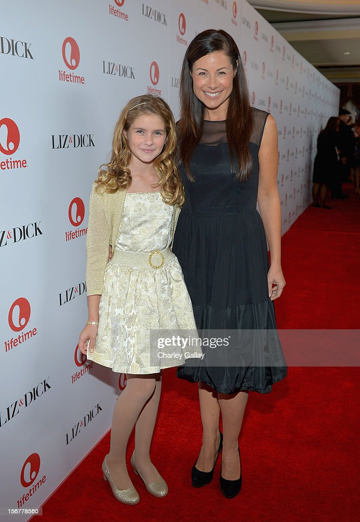 Actress Taylor Ann Thompson (L) attends a private dinner for the Lifetime premier of 'Liz & Dick' at Beverly Hills Hotel on November 20, 2012 in Beverly Hills, California.