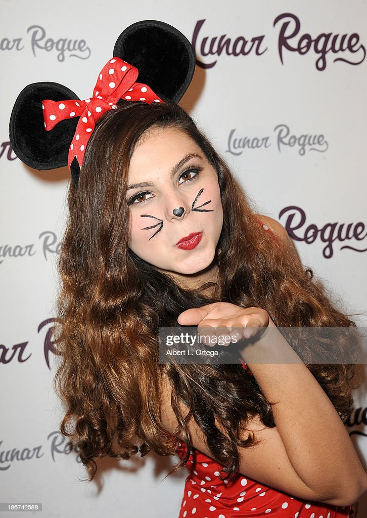 Actress Taylor Hay arrives for the CD Release And Halloween Costume Party For Lunar Rogue on October 26, 2013 in Beverly Hills, California.
