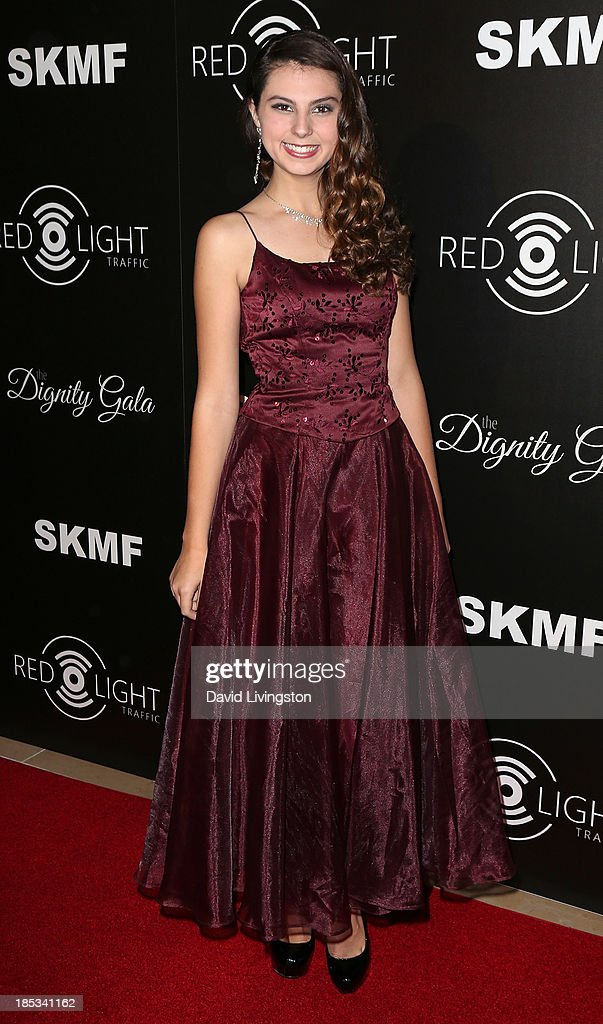 Actress Taylor Hay attends the launch of the Redlight Traffic app at the Dignity Gala at The Beverly Hilton Hotel on October 18, 2013 in Beverly Hills, California.