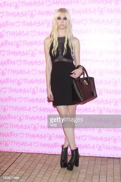 Actress Taylor Momsen attends Samantha Thavasa store opening ceremony at SOGO Causeway Bay on September 27 2012 in Hong Kong China