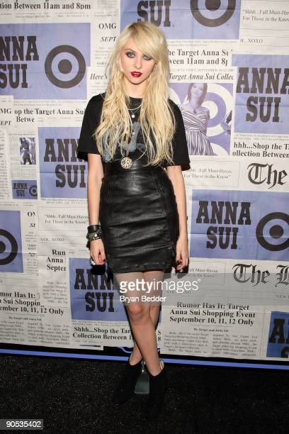Actress Taylor Momsen attends the launch of Anna Sui's 'Gossip Girl' inspired collection at the Target popup store on September 9 2009 in New York...
