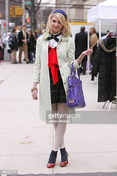 Actress Taylor Momsen on location for 'Gossip Girl' on March 14 2008 in New York City