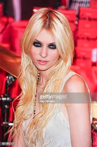 Actress Taylor Momsen poses for photos at Victoria Secret Soho on January 14 2010 in New York City