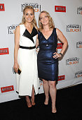 Actress Taylor Schilling and author Piper Kerman attend 'Orange Is The New Black' New York Premiere at The New York Botanical Garden on June 25 2013...