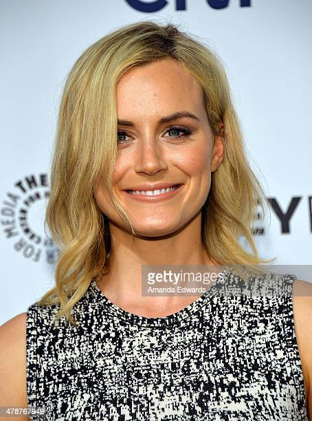 Actress Taylor Schilling arrives at the 2014 PaleyFest 'Orange Is The New Black' event at the Dolby Theatre on March 14 2014 in Hollywood California