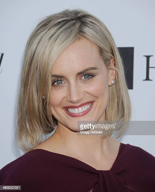 Actress Taylor Schilling arrives at the 3rd Annual Reel Stories Real Lives event at Milk Studios on April 5 2014 in Hollywood California