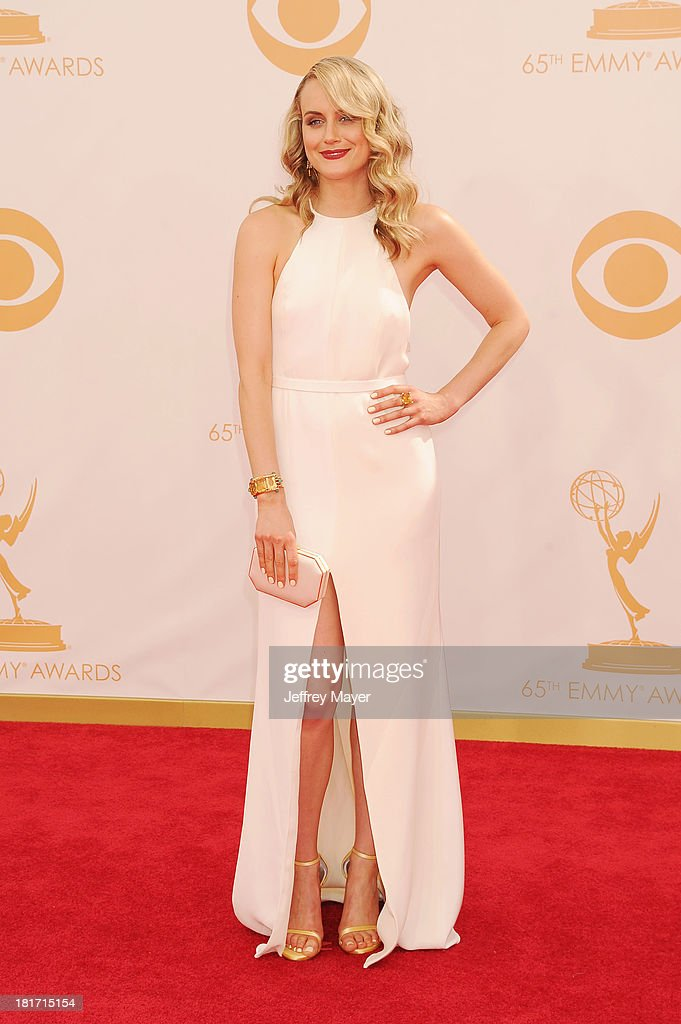 Actress Taylor Schilling arrives at the 65th Annual Primetime Emmy Awards at Nokia Theatre L.A. Live on September 22, 2013 in Los Angeles, California.