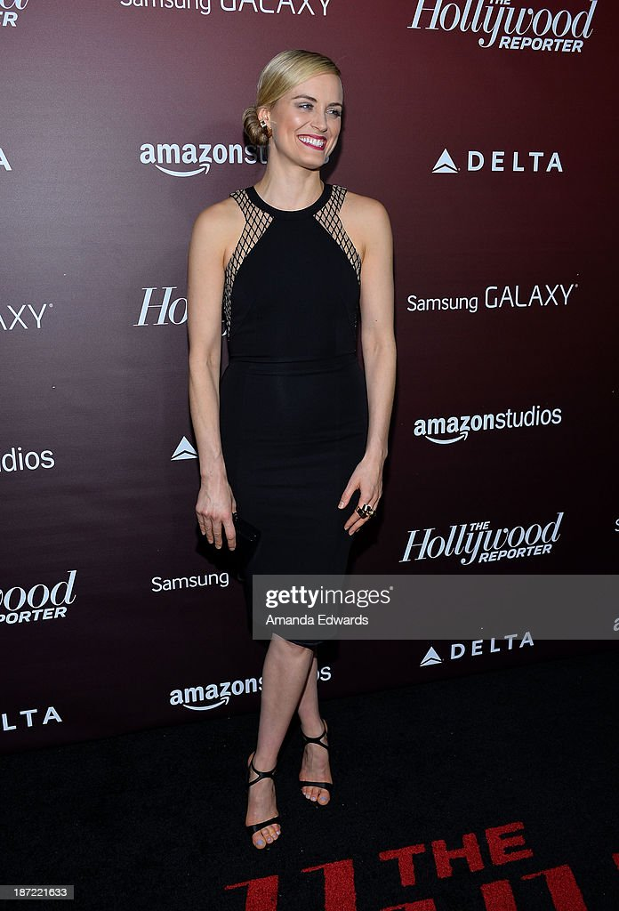 Actress <a gi-track='captionPersonalityLinkClicked' href=/galleries/search?phrase=Taylor+Schilling&family=editorial&specificpeople=5852086 ng-click='$event.stopPropagation()'>Taylor Schilling</a> arrives at The Hollywood Reporter's Next Gen 20th Anniversary Gala at the Hammer Museum on November 6, 2013 in Westwood, California.