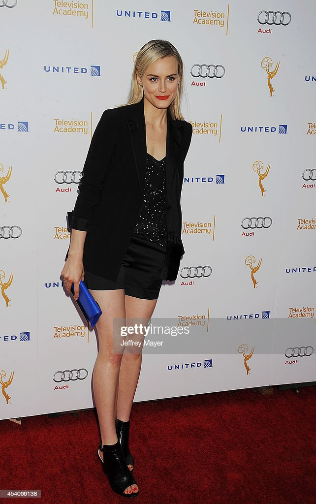 Actress <a gi-track='captionPersonalityLinkClicked' href=/galleries/search?phrase=Taylor+Schilling&family=editorial&specificpeople=5852086 ng-click='$event.stopPropagation()'>Taylor Schilling</a> arrives at the Television Academy's 66th Emmy Awards Performance Nominee Reception at the Pacific Design Center on Saturday, Aug. 23, 2014, in West Hollywood, California.