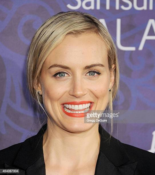 Actress Taylor Schilling arrives at the Variety And Women In Film Annual PreEmmy Celebration at Gracias Madre on August 23 2014 in West Hollywood...